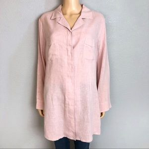 Soft Surroundings Hemp Tencel Button Down Tunic